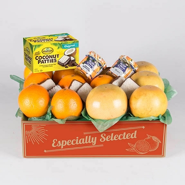 1 Tray Sunshine Deluxe Oranges/Ruby Red Grapefruit FREE SHIPPING